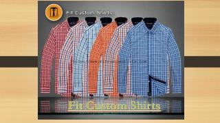 Custom fit shirts for men | Custom made dress shirts for men