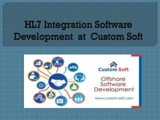 HL7 integration by Custom Soft