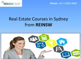 Real Estate Courses in Sydney from REINSW