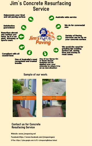 Jim's Concrete Resurfacing Service