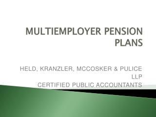 Multiemployer Pension Plans
