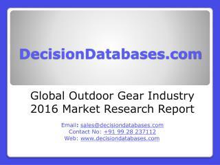 Global Outdoor Gear Market 2016-2021