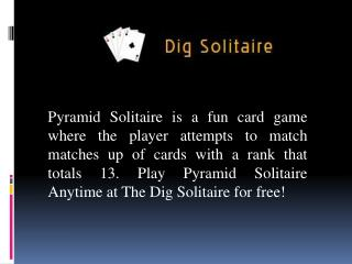 Rules For Playing Pyramid Solitaire Online