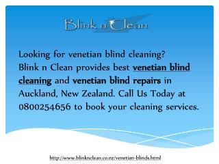 Venetian Blind Cleaning - Blink n Clean