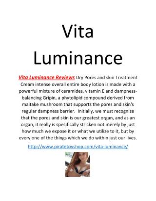 Vita Luminance Reviews