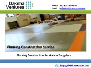 Flooring Construction Services in Bangalore