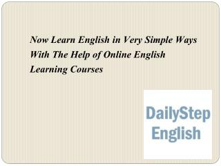 Online English Learning Courses: Now Learn English in Very Simple Ways