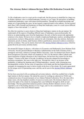 Attorney Robert Atkinson Reviews