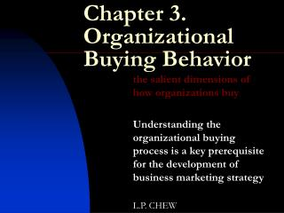 Chapter 3. Organizational Buying Behavior