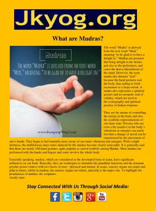What are Mudras
