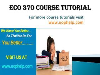 ECO 370 Squared Instruction Uophelp