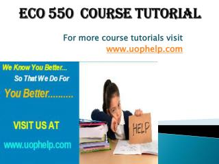 ECO 550 Squared Instruction Uophelp