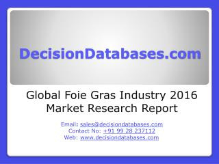 Global Foie Gras Market 2016-2021