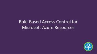 Role-Based Access Control for Microsoft Azure Resources - infochola