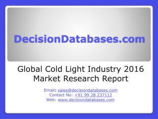 Global Cold Light Market Manufactures and Key Statistics Analysis 2016
