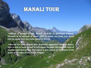 Things To Do In Manali Tour