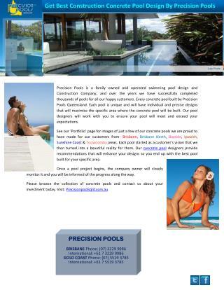 Get Best Construction Concrete Pool Design By Precision Pools