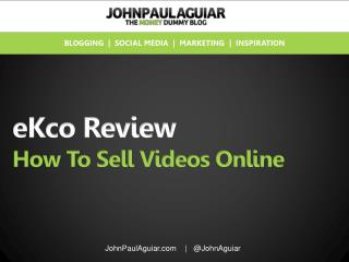 eKco review, learn how to sell video easier