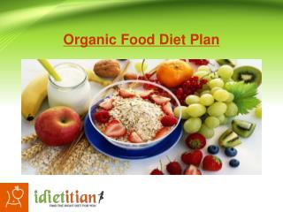 Organic Food Diet Plan