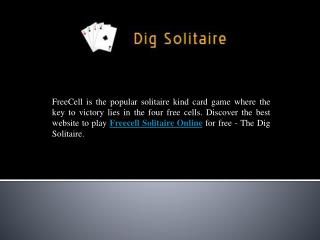 Freecell Solitaire Online Game Play