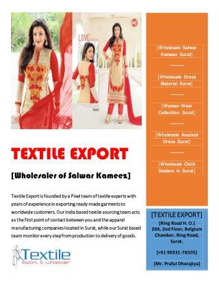 Buy Wholesale Salwar Kameez Online in Surat, India at cheap price