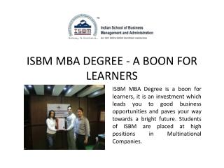 ISBM MBA Degree Courses Mumbai