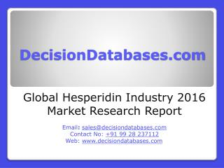 Global Hesperidin Market 2016:Industry Trends and Analysis