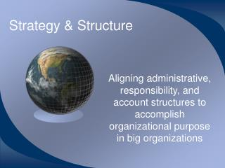 Strategy  Structure