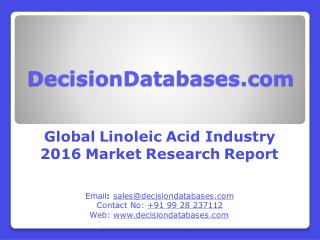 Global Linoleic Acid Market 2016: Industry Trends and Analysis