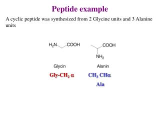 Peptide example