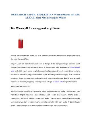 kangen water indonesia
