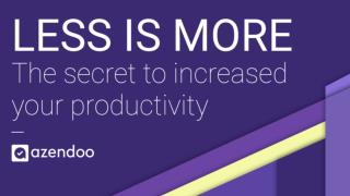 Less is more: the secret to increased productivity