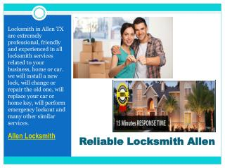 Reliable Allen Locksmith