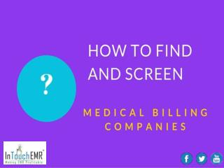 How to Find and Screen Medical Billing Companies