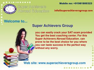 Make ultimate choice for SAT coaching in Gurgaon