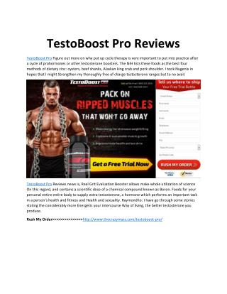 TestoBoost Pro - Boost Your Sexual Drive!