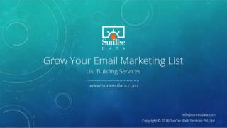 Grow Your Email Marketing List: List Building Services