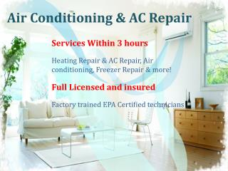 Air Conditioning Repair Services for Efficiency Cost