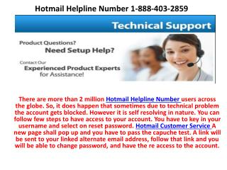 Hotmail account is not loading properly 1-888-403-2859