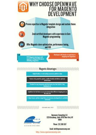 Why Choose Openwave for Magento Development?