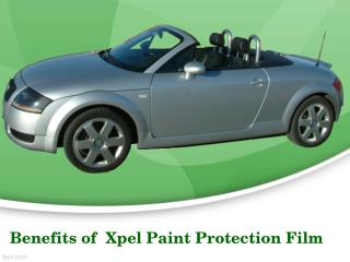 Benefits Of  Xpel Paint Protection Film For Your Car
