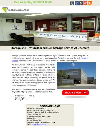 Storageland Provide Modern Self Storage Service At Coomera