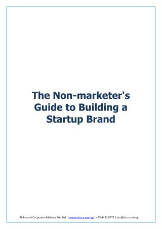 The Non-Marketer's Guide to Building a Startup Brand