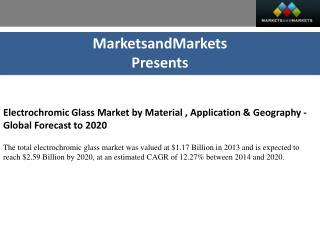 Electrochromic Glass Market by Material - 2020 | MarketsandMarkets