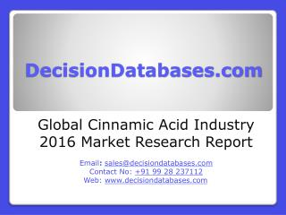 Global Cinnamic Acid Market and Forecast Report 2016-2021