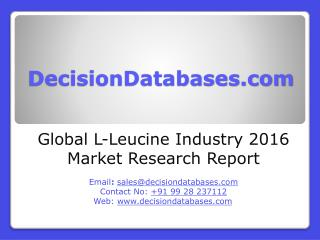 Global L-Leucine Industry- Size, Share and Market Forecasts 2021