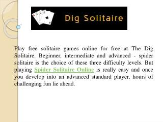 Play Popular Spider Solitaire Online