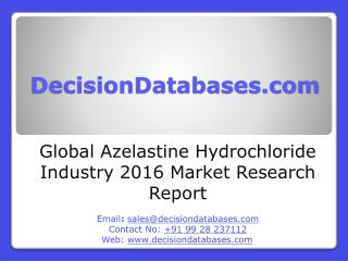 Global Azelastine Hydrochloride Industry: Market research, Company Assessment and Industry Analysis 2016