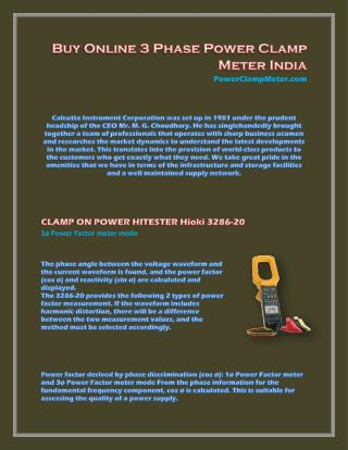 3 Phase Power Clamp Meter India