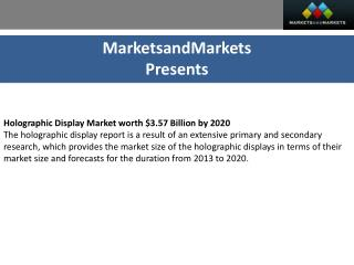 Holographic Display Market by Technology - 2020 | MarketsandMarkets